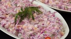 Ingredients heads of red cabbage cup of olive oil 1 cup of corn 6 ounces of cucumber . Red Cabbage Salad, Lunch To Go, Salad Dressing, Salad Recipes, Cucumber, Potato Salad, Paleo, Food And Drink, Vegan