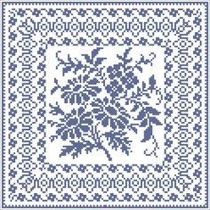 Antique square | Chart for cross stitch or filet crochet.
