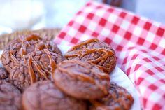 Brownie Cookies mit Salzkaramell *