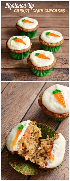 LIGHTENED UP CARROT CAKE CUPCAKES