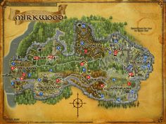 LOTRO Mirkwood map - Most famous Third Age  Forest