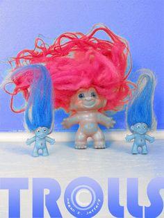 Little Troll dolls. From Megan Jeffery's blog, Beetlegrass.