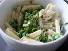Try. Penne Pasta with Goat Cheese and Basil.
