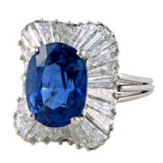 1stdibs - OSCAR HEYMAN Diamond and Sapphire Platinum Ring explore items from 1,700  global dealers at 1stdibs.com