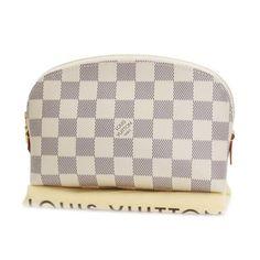 Louis Vuitton Pochette Cosmetic Damier Azur Small bags White Canvas N60024