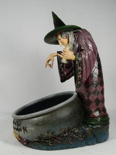 Jim Shore 'Witch's Brew' Witch with Cauldron Figurine Scary 4014443 | eBay