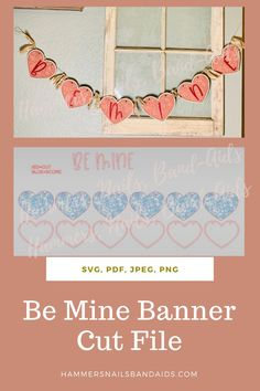 Be Mine Heart Banner with roses #SVG #Cutfile #cricut #glowforge Cute Crafts, Diy Crafts, Heart Banner, Mom Group, Crafts To Make And Sell, Adult Crafts, Lifestyle Group, Mom Hacks, Kids Corner