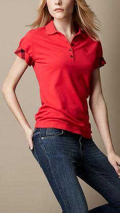 Check Lined Polo Shirt | Burberry
