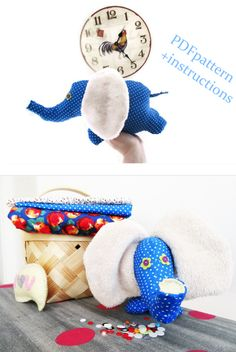 Soft Toy #Elephant #Sewing #Pattern PDF Instant Download