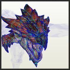 Monster Hunter - Rathalos Head Papercraft Free Template Download - http://www.papercraftsquare.com/monster-hunter-rathalos-head-papercraft-free-template-download.html