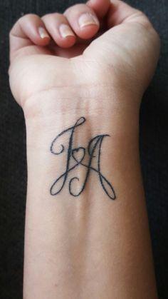 Initial tattoo ideas 61 - YS Edu Sky - Initial tattoo ideas 61 – YS Edu Sky . - Initial tattoo ideas 61 – YS Edu Sky – Initial tattoo ideas 61 – YS Edu Sky – - Name Tattoo On Hand, Name Tattoos On Arm, Tattoos With Kids Names, Couple Tattoos, Hand Tattoos, Tattoos For Guys, Tattoos For Women, Letter J Tattoo, Kids Initial Tattoos