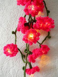 Crocheted Flower Lights, inspiration.