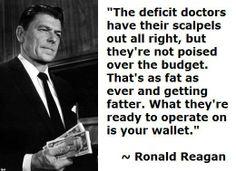 Ronald Reagan Deficit.