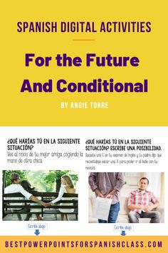 Would you like to see 100% student engagement? Try Spanish Google Drive Activities for the Future and Conditional Tenses. Students love digital activities and the situations are funny and relatable! After using these resources, students will be able to talk about the future and express probability using use the future and conditional tenses. Product includes digital activities for el futuro y el condicional, PowerPoint instructions for the students and handouts. Great for distance learning! Spanish Interactive Notebook, Interactive Notebooks, Ap Spanish, Spanish Lessons, Blended Learning, Student Engagement, Google Drive, Lesson Plans, Distance