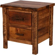 Reclaimed wood bedside table. Night table.