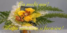 Felicitari cu flori - La multi ani! - mesajeurarifelicitari.com Happy Birthday, Table Decorations, Plants, 36, Happy Brithday, Urari La Multi Ani, Happy Birthday Funny, Plant, Dinner Table Decorations