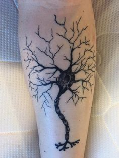 My newest addition a neuron by Matty Higgins at Old Towne Tattoo in Orange CA