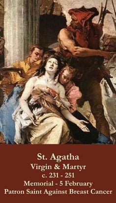 St. Agatha Prayer Card - The ACTS Mission Store Early Christian, Prayer Cards, Patron Saints, Holy Spirit, Jesus Christ, Christianity, Prayers, Spirituality, Memories