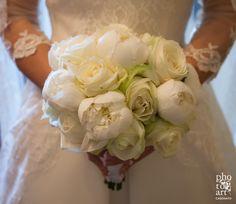 Fioreria Oltre/ Bridal bouquet/ Peonies, roses/ Photo credit: Photoart Casonato