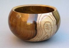 Laburnum wood bowl
