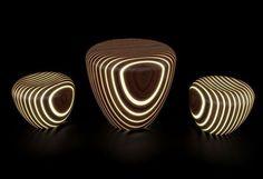 BRIGHT WOODS 茶几 by LUXYDE 设计师Giancarlo Zema