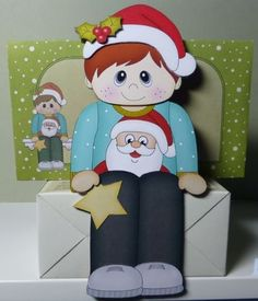 3D on the Shelf Card Kit - Little Christmas Jumper Boy - Photo by Donna Ritchie