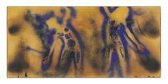 Yves Klein's legendary Fire-Color Painting FC 1 Yves Klein, Fire Painting, Body Painting, International Klein Blue, Art Quiz, Hirshhorn Museum, Franz Kline, Chef D Oeuvre, Mark Rothko