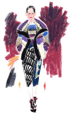 It's Nice That : Illustration: Damien Cuypers works his magic on London Fashion Week