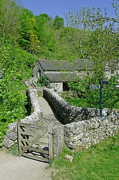 A view across Viator's Bridge at Milldale in Staffordshire, England