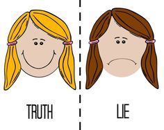 Truth Vs. Lie Family Home Evening for toddlers.