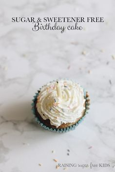 Sugar & Sweetener Free Birthday Cake | Raising Sugar Free Kids - I searched and searched for a sugar and sweetener free birthday cake recipe for my daughter's birthday but could find nothing, so I decided to create my own.
