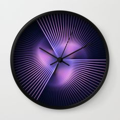 Buy Purple Rays Wall Clock by lyle58. Worldwide shipping available at Society6.com. Just one of millions of high quality products available.