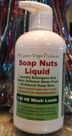 Green Virgin Products - Soap Nuts Liquid, 8 Ounces, 120 HE Wash Loads, $18.95 (http://greenvirginproducts.com/soap-nuts-liquid-8-ounces-120-he-wash-loads/)