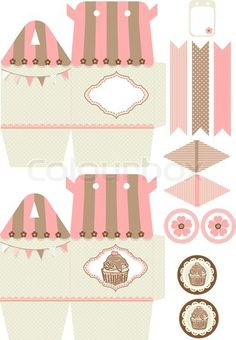 Vector of 'Cupcake box template'