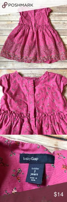 Baby Gap Dress & Bloomers Size 2 Baby Gap gorgeous pink dress with coordinating bloomers. Snaps up the front and cinched at the waist. Beautiful floral design. So soft!!! Very good condition, no stains. GAP Dresses Casual
