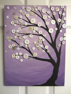 @Stephanie Close Saulsberry Button tree in purple.