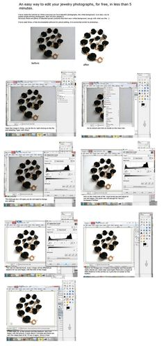 Jewelry photo editing tutorial by ~MurderInTechnicolour on deviantART