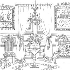 House Colouring Pages, Colouring Pics, Coloring Book Pages, Coloring Sheets, Colorful Drawings, Colorful Pictures, Free Printable Coloring Pages, Line Art, Stress