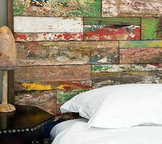 Headboard, night stands these colors. Le Petitchouchou