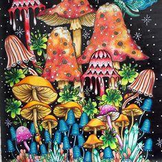 Shroom Lodge from Sommarnatt #Sommarnatt#HannaKarlson#prismacolor