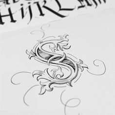 "Study of a Beautiful ""S"" {calligraphy dropcap letter} // Seb Lester"