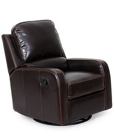 Nursery first, family room later? Toby Leather Swivel-Glider Recliner Chair, 29W x 38.5D x 40H