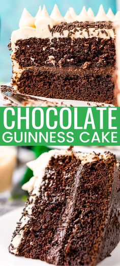 Lower Excess Fat Rooster Recipes That Basically Prime This Chocolate Guinness Cake Is Made With A Rich And Tender Chocolate Cake Laced With Smooth Stout With A Chocolate Ganache Filling And A Decadent Irish Cream Frosting Perfect For St. Irish Cream Cake, Irish Cake, Baileys Irish Cream, Irish Bread, Frosting Recipes, Cake Recipes, Dessert Recipes, Pastry Recipes, Easy Desserts