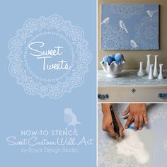 How to Stencil Lace Canvas Art Project