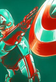 Captain America Avenger Art