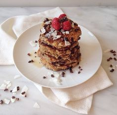 Banana Chocolate Coconut Pancakes | The Spoonful of Honey