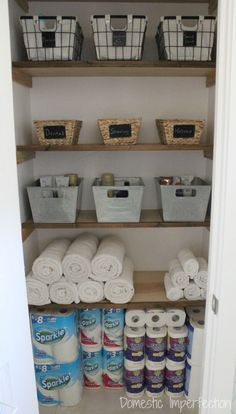 Linen Closet Organization (and the end my pink walls!)