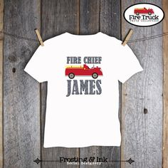 Fire Truck Birthday Party  Shirt Iron On by frostingandink on Etsy, $8.00