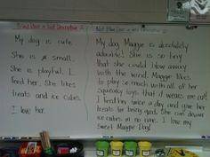 Writing interesting sentences mini-lesson