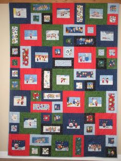 Are you or someone you know a Peanuts fan? Then this is the quilt for you. This fun Christmas quilt features Charlie Brown and his friends. It
